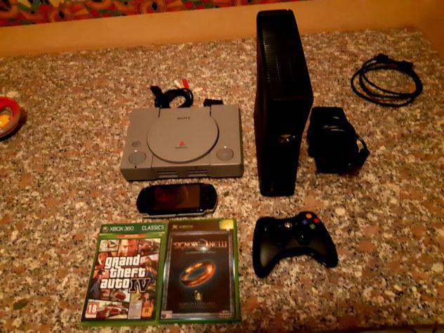 Xbox 360 + psp + ps1