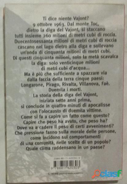 Il racconto del Vajont di Marco Paolini,Gabriele Vacis Ed:Garzanti, 1999 perfetto 1