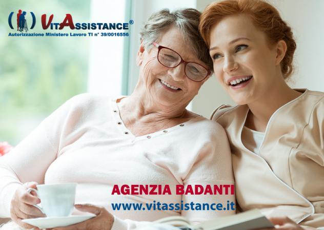Badante assistenza anziani e disabili in convivenza e a ore