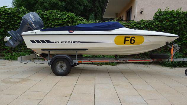 Fletcher 14 gto f40 (anno 2005), fuoribordo yamaha 40 cv 4