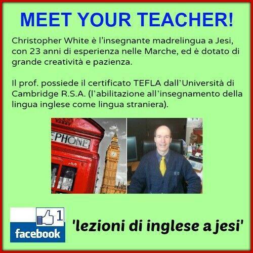 Lezioni di inglese con insegnante madrelingua