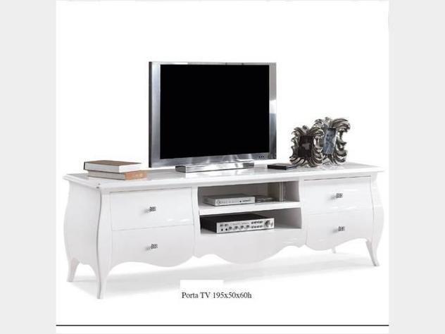Porta tv bianco lucido nuovo art. 482