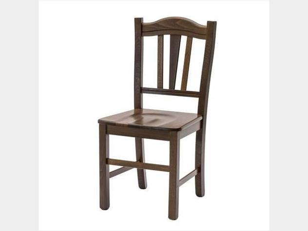 Sedia classica in legno massello art.381glle