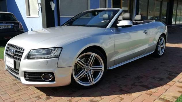 Audi a5 cabrio 2.0 tfsi 211cv ambition s-line - pelle -