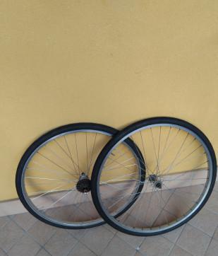 Ruote da bicicletta di corsa misura 37