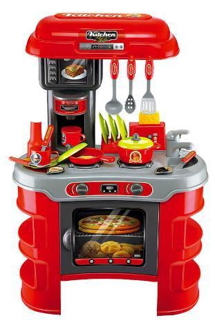 Cucina giocattolo per bambini 72x46x61 cm con utensili