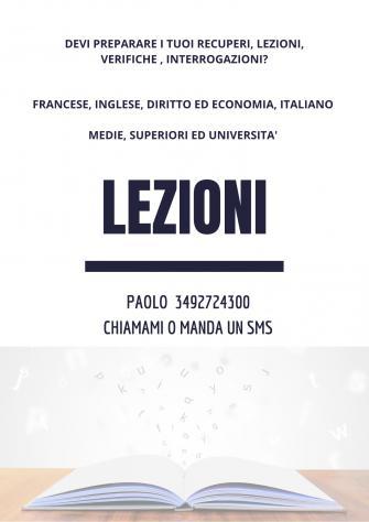 Ripetizioni brescia (francese, diritto ed economia...)