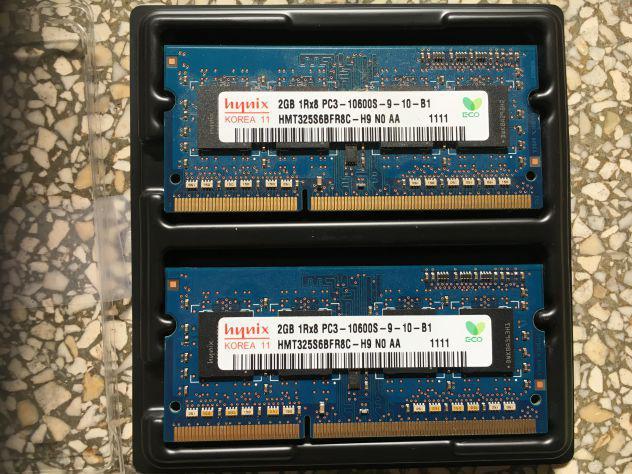 2x memoria ram da 2 gb pc3 - 10600s