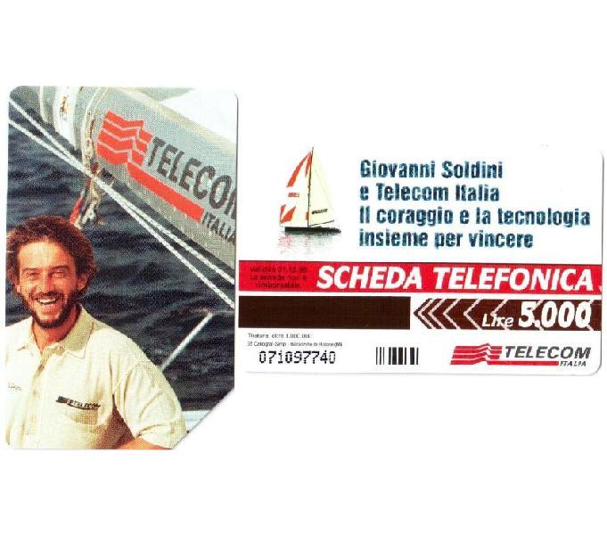 6 schede telefoniche usate da collezione italia
