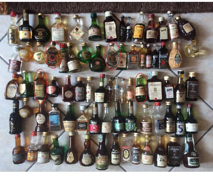 Collezione mignon liquori vari 430 pezzi anche rari