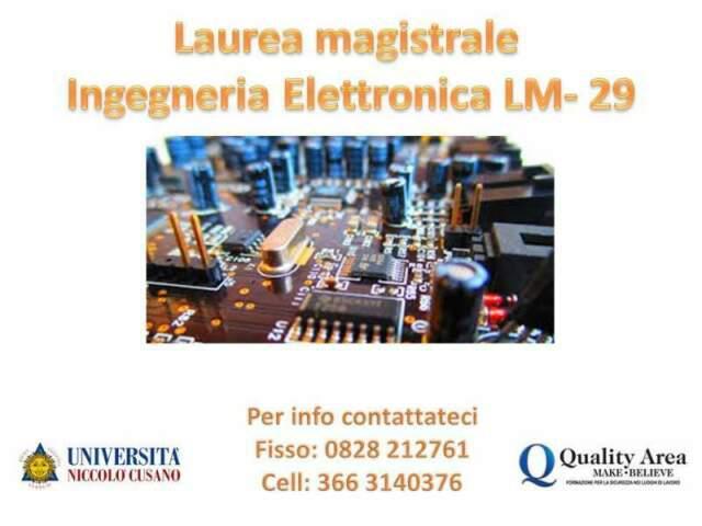 Laurea magistrale in ingegneria elettronica (lm-29)