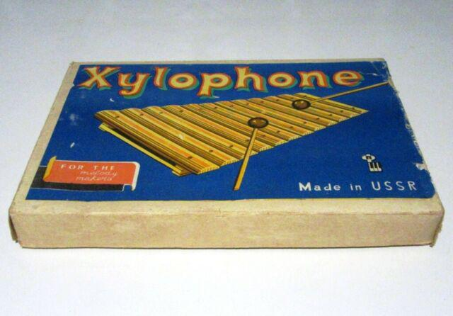 Xylophone made in ussr xilofono giocattolo vintage anni '70