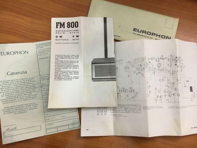 Radio europhon 800 am fm funzionante
