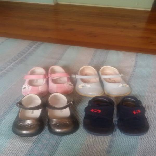 4 paia scarpe bambina n. 23, 24