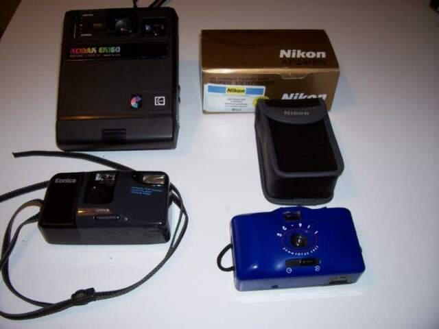 Lotto 4 macchine fotografiche kodak konica nikon