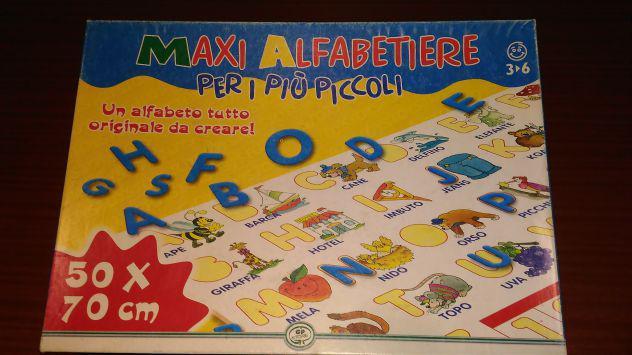 MAXI ALFABETIERE 3-6 anni 50x70 cm Giochi Prezziosi puzzle