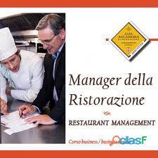 Master Food Manager per aspiranti imprenditori