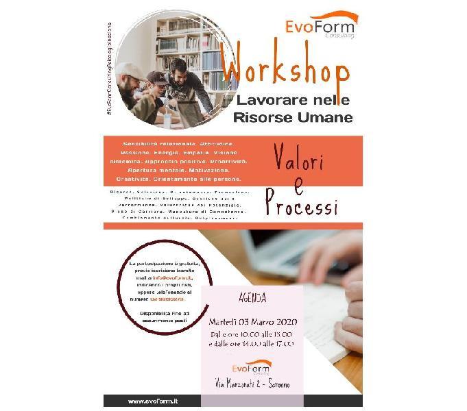 Lavorare nel mondo delle risorse umane. Workshop GRATUITO