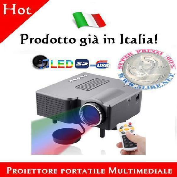 Mini proiettore led portatile con telecomando