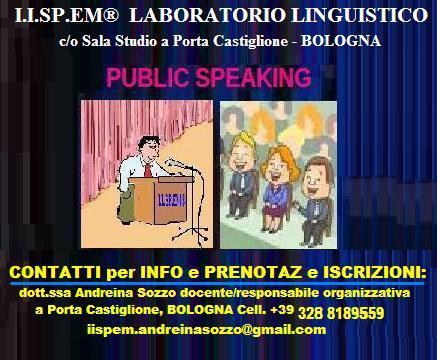 Public speaking e dizione lingua italiana a bologna