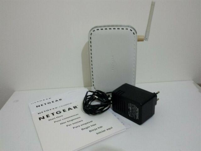 Router netgear dg834g adsl wifi con alimentatore e manuali