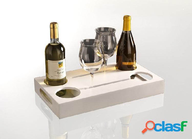 Cantinetta vassoio portabottiglie e bicchieri