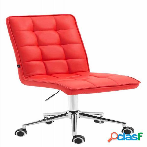 poltrona dattilo rosso sedia girevole per ufficio ruote in nylon rossa