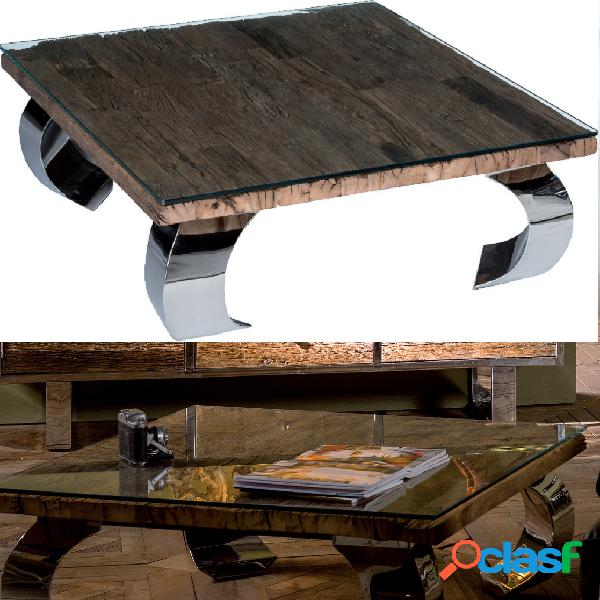 Tavolino opium steel
