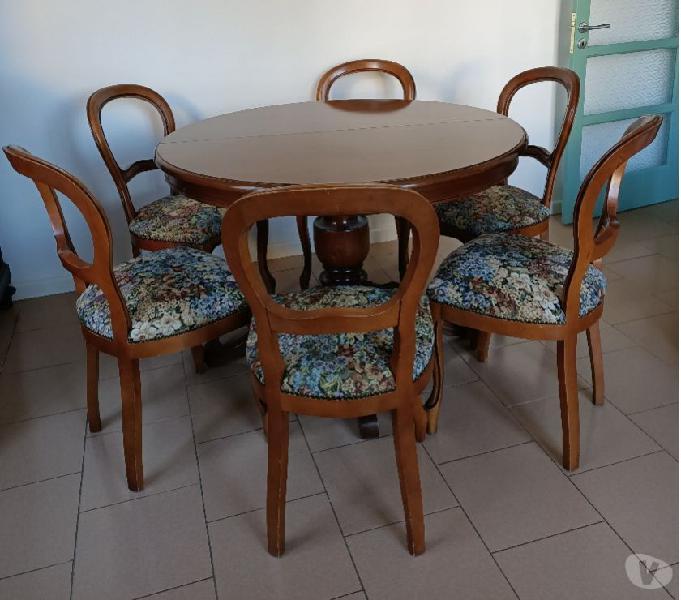 Tavolo allungabile e 6 sedie coordinate