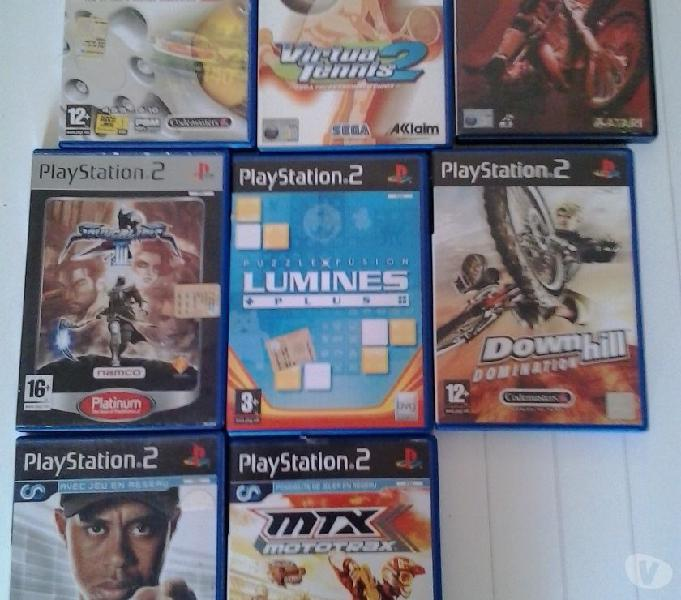15 ps2 + 5 ps1+ 2 joystick + consolle ps2