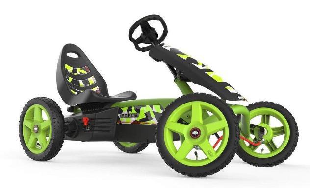 Auto a pedali go kart per bambini berg rally force verde