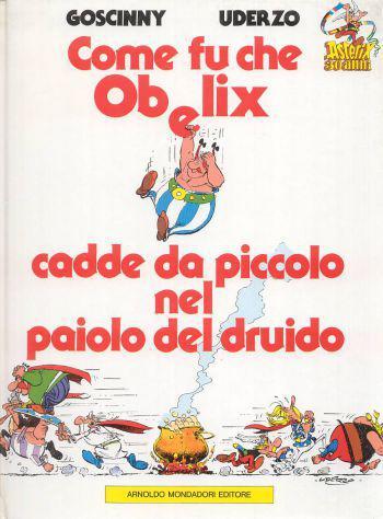 Come fu che obelix cadde da piccolo nel paiolo del druido.