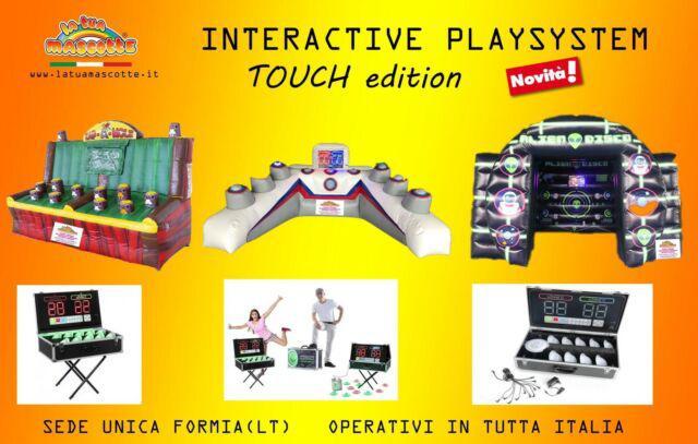 Gioco gonfiabile interattivo touch playsystem ips vendita