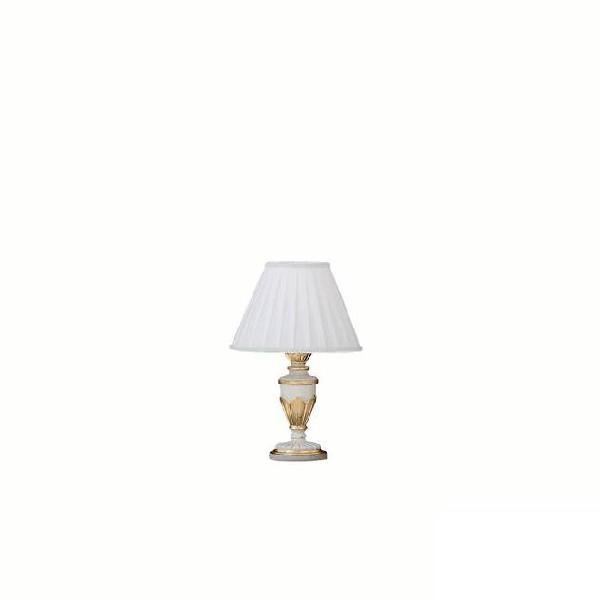 Lampada da tavolo 40w e14 ideal lux bianco antico