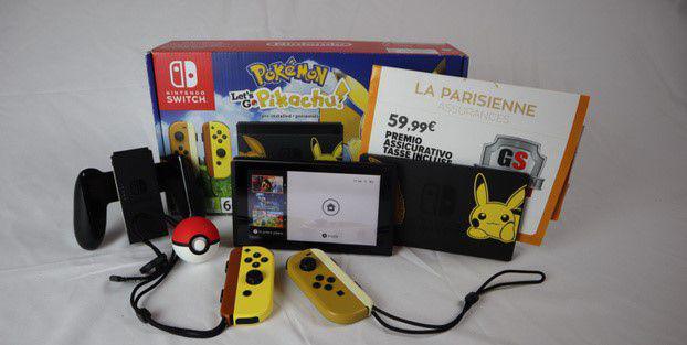 Nintendo switch pokemon con assicurazione