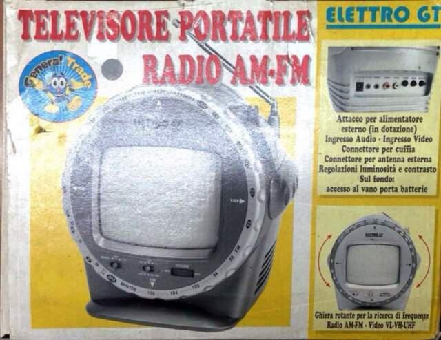 Tv portatile radio am-fm