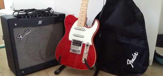 Amplificatore fender mustang ii, chitarra stagg