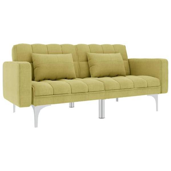 Vidaxl divano letto verde in tessuto