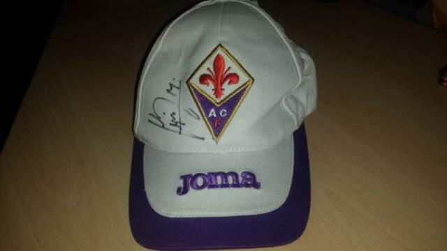 Cappellino fiorentina autografato da joaquin