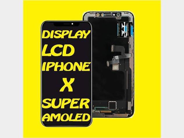 Iphone x display lcd s-amoled compreso montaggio nuovo