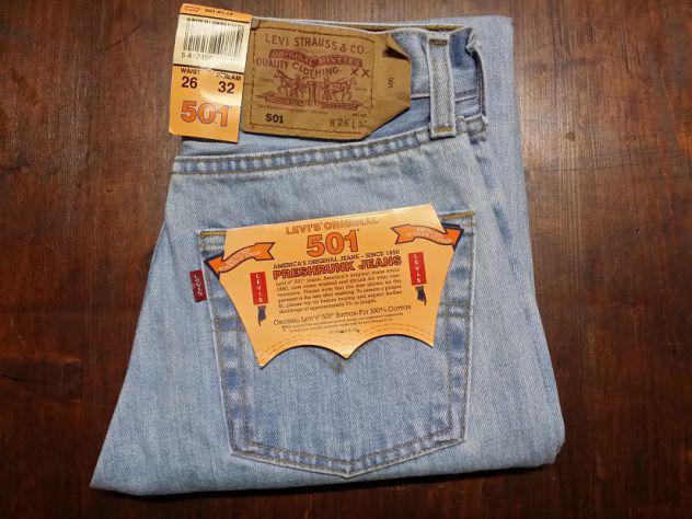 Levis 501 jeans originali nuovi w26 l32 (ita 40) celeste