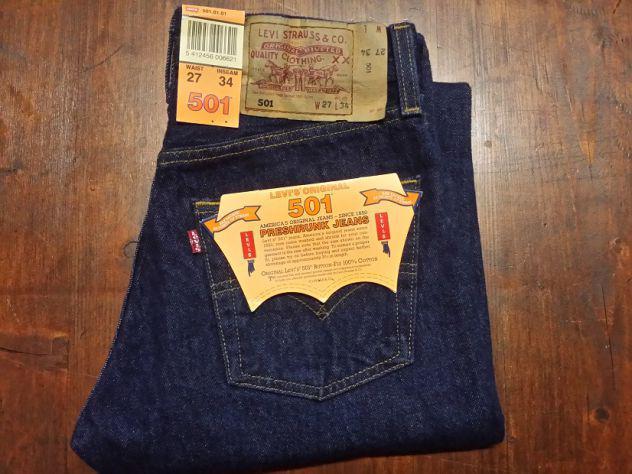 Levis 501 jeans originali nuovi w27 l34 (ita 41) classic blu