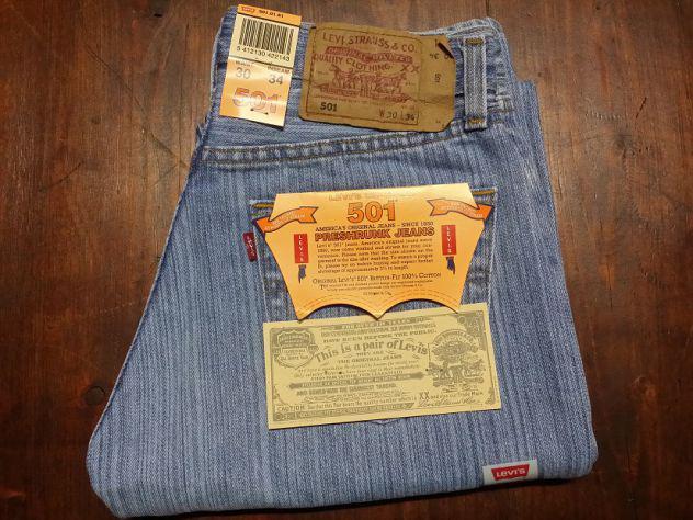 Levis 501 jeans originali nuovi w30 l34 (ita 44) azzurro