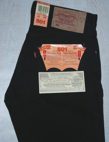 Levis 501 jeans originali nuovi w30 l34 (ita 44) neri black