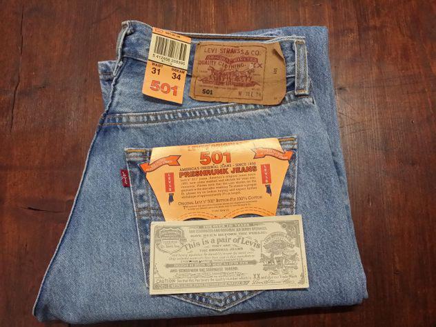 Levis 501 jeans originali nuovi w31 l34 (ita 45) azzurri