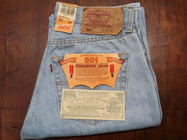Levis 501 jeans originali nuovi w31 l34 (ita 45) celeste
