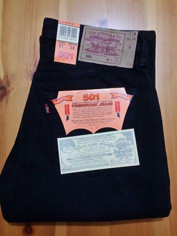 Levis 501 jeans originali nuovi w31 l34 (ita 45) neri black