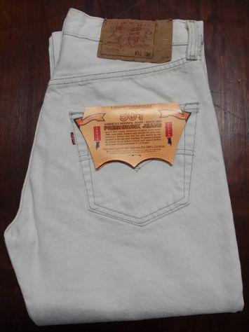 Levis 501 jeans originali nuovi w32 l36 (ita 46) white