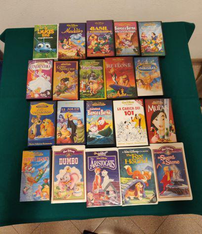 Lotto di n. 34 videocassette vhs disney originali