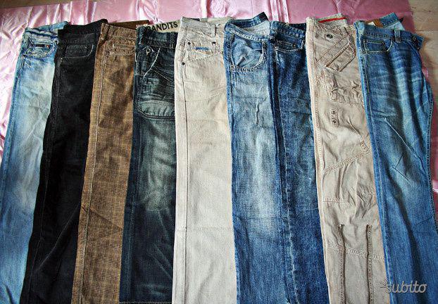 N.9 jeans pantaloni uomo   grandi marche originali